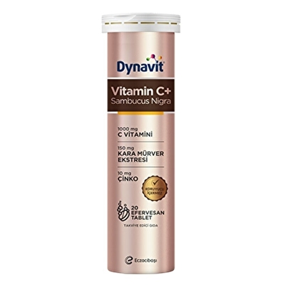 Dynavit Vitamin C + Sambucus Nigra 20 Efervesan Tablet