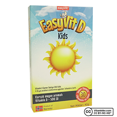 EasyVit EasyVit D Kids 30 Çiğnenebilir Form