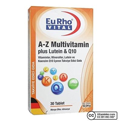 Eurho Vital A-Z Multivitamin Plus Lutein & Q10 30 Tablet