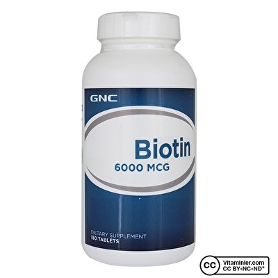 GNC Biotin 6000 mcg 150 Tablet