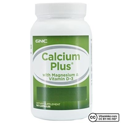 GNC Calcium Plus with Magnesium & Vitamin D 180 Kapsül