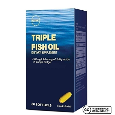 GNC Triple Fish Oil 900 Mg Omega-3 Balık Yağı 60 Kapsül