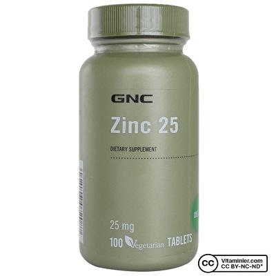 GNC Zinc 25 Mg 100 Tablet