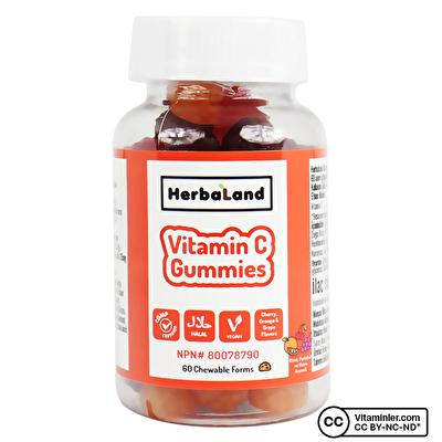 Herbaland Kids Gummies Vitamin C 60 Çiğnenebilir Form