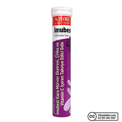 Imubest Sambucus Nigra Vitamin C + Çinko 24 Efervesan Tablet