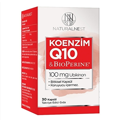 NaturalNest Koenzim Q10 100 Mg 30 Kapsül