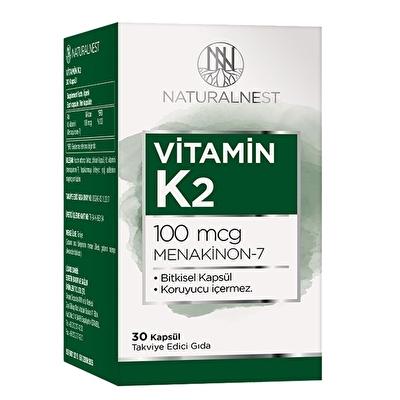 NaturalNest Vitamin K2 100 Mcg 30 Kapsül
