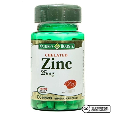 Nature's Bounty Chelated Zinc 25 Mg 100 Tablet