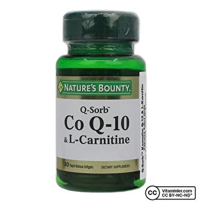 Nature's Bounty CoQ-10 (Q-Sorb) & L-Carnitine 30 Kapsül