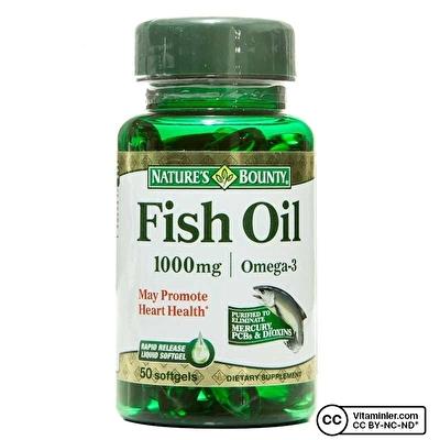 Nature's Bounty Fish Oil 1000 Mg 50 Kapsül