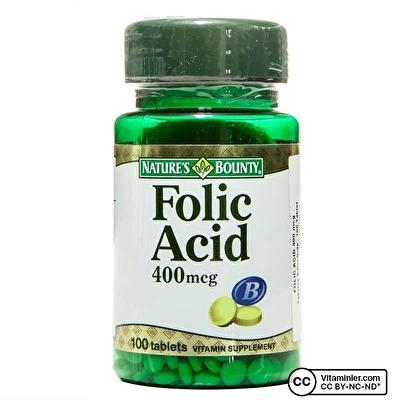 Nature's Bounty Folic Acid 400 mcg 100 Tablet
