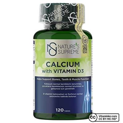 Nature's Supreme Calcium with Vitamin D3 120 Tablet
