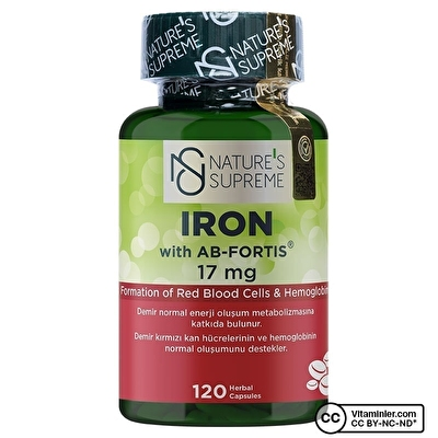 Nature's Supreme Iron 17 Mg 120 Kapsül