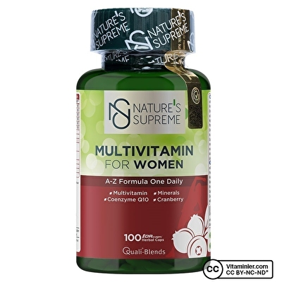 Nature's Supreme Multivitamin for Women 100 Kapsül