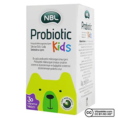Nbl Probiotic Kids 30 Çiğneme Tableti