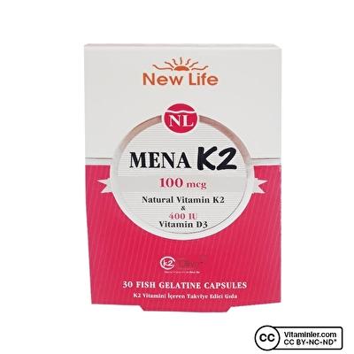 New Life Mena K2 30 Kapsül