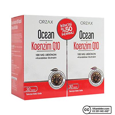 Ocean Koenzim Q10 30 + 30 Kapsül 2 Adet