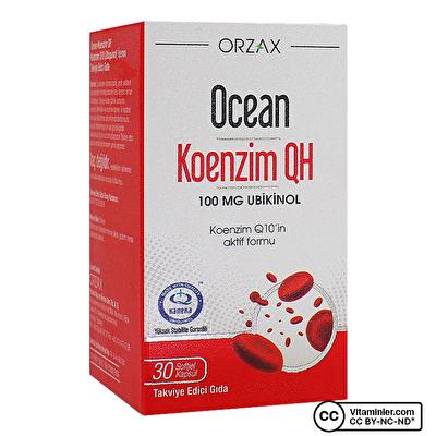 Ocean Koenzim QH 100 Mg Ubiquinol 30 Kapsül