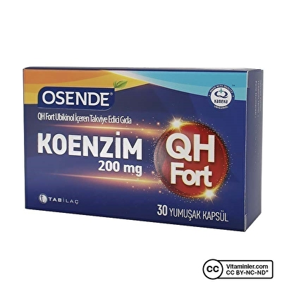 Osende Koenzim QH Fort 200 Mg 30 Kapsül