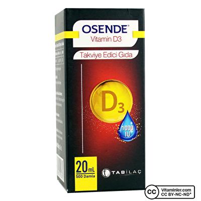 Osende Vitamin D3 20 mL Damla