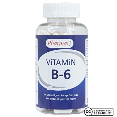 PharmaQ Vitamin B6 180 Kapsül