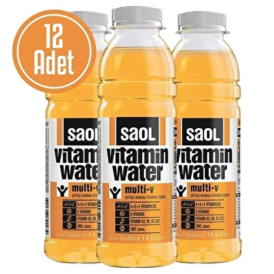 Saol Vitamin Water Multi-V 500 mL 12 Adet