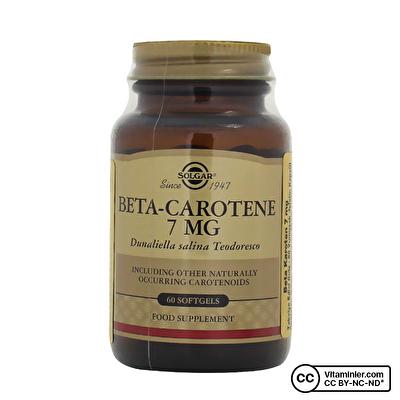 Solgar Beta Carotene 7 Mg 60 Kapsül
