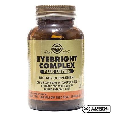 Solgar Eyebright Complex Plus Lutein 60 Kapsül