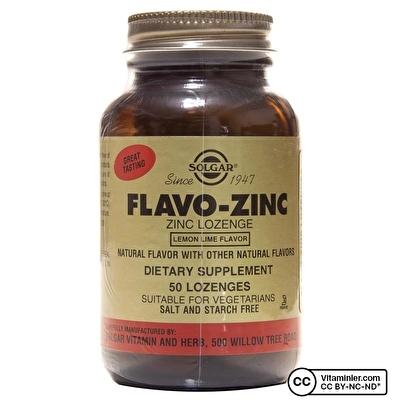 Solgar Flavo-Zinc Lozenges Pastil 50 Tablet