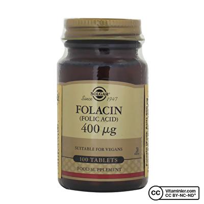Solgar Folic Acid (Folacin) 400 mcg 100 Tablet