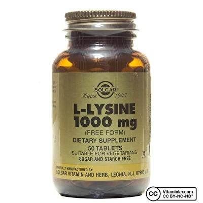 Solgar L-Lysine 1000 Mg 50 Tablet