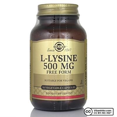 Solgar L-Lysine 500 Mg 50 Kapsül