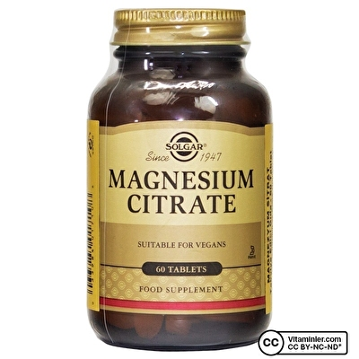 Solgar Magnesium Citrate 200 mg 60 Tablet