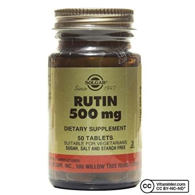 Solgar Rutin 500 Mg 50 Tablet