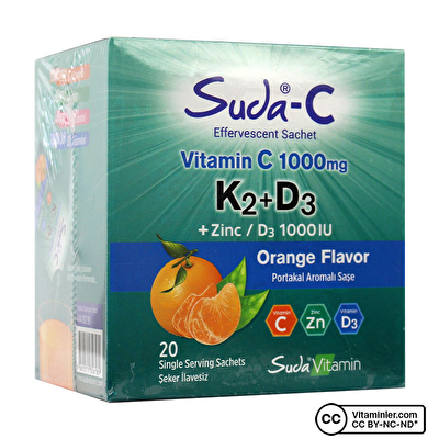 Suda C Vitamin C K2 + D3 20 Saşe