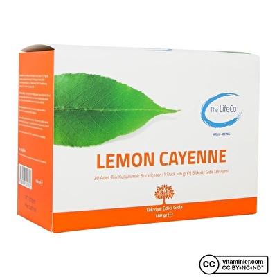 The LifeCo Lemon Cayenne 30 Stick