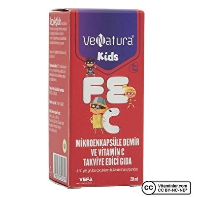 Venatura Kids Mikroenkapsüle Demir ve Vitamin C 20 mL