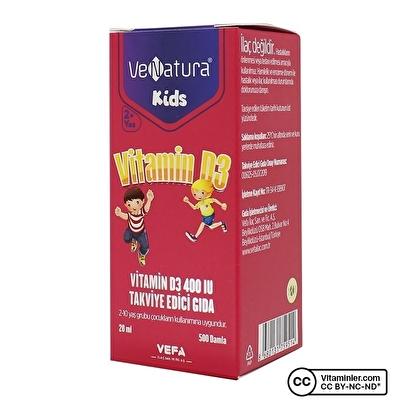 Venatura Kids Vitamin D3 400 IU 20 mL
