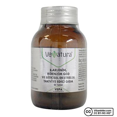 Venatura L-arjinin Koenzim Q10 ve Bitkisel Ekstreler 60 Tablet