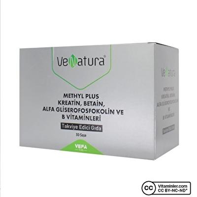 Venatura Methyl Plus Kreatin, Beatin, Alfa Gliserofosfokolin ve B Vitaminleri 30 saşe