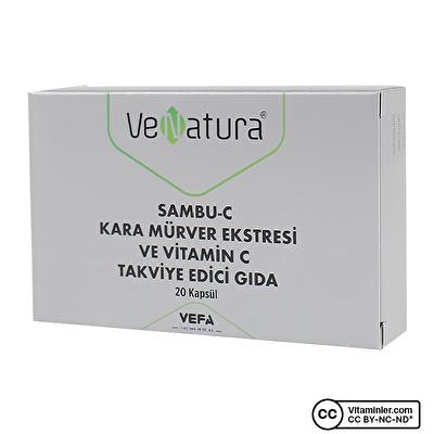 Venatura Sambu-C Kara Mürver Ekstresi ve C Vitamini 20 Kapsül