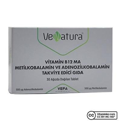 Venatura Vitamin B12 MA Metilkobalamin ve Adenozilkobalamin 30 Tablet