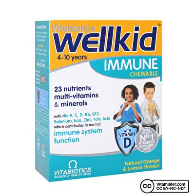 Vitabiotics Wellkid Immune 30 Çiğnenebilir Form