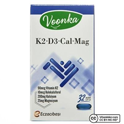 Voonka K2 D3 Cal Mag 32 Kapsül