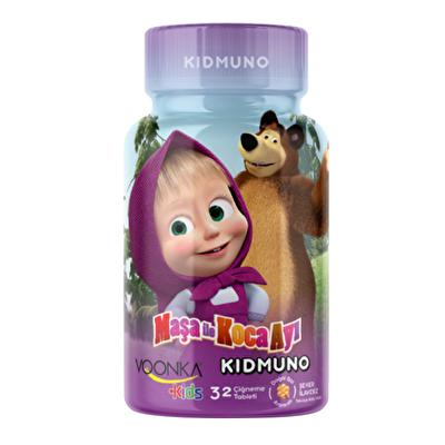 Voonka Kids Maşa ile Koca Ayı Kidmuno 32 Çiğneme Tableti