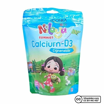 Voonka Kids Niloya Gummies Calcium D3 30 Çiğnenebilir Form