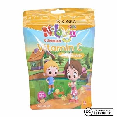 Voonka Kids Niloya Gummies Vitamin C 60 Çiğnenebilir Form