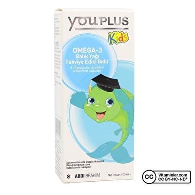 YouPlus Kids Omega-3 Balık Yağı 100 mL