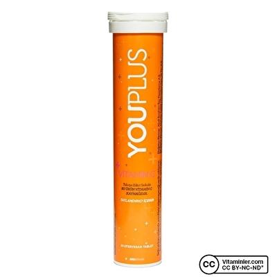 YouPlus Vitamin C 1000 Mg Efervesan 20 Tablet