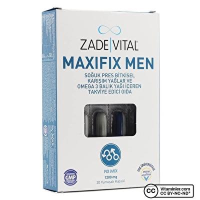 Zade Vital Maxifix Men 1200 Mg 20 Kapsül